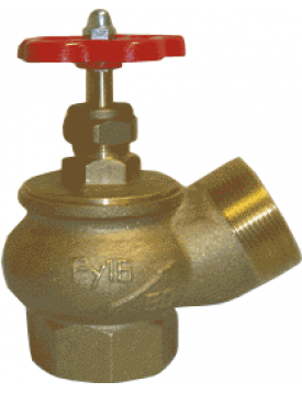 Клапан пожарного крана КПЛ-50 120° (муфта/цапка)