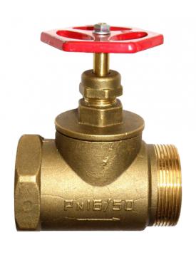 Клапан пожарного крана КПЛ-50 180° (муфта/цапка)